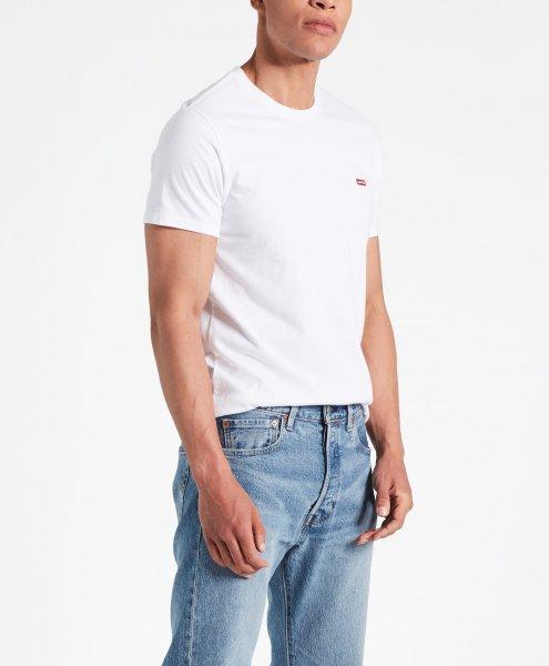 LEVI'S T-Shirt uni mit Logo weiß 10453290