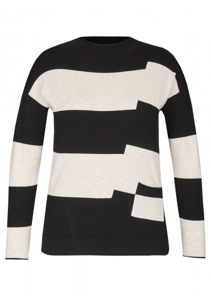 LECOMTE Schwarz Weiß Pullover