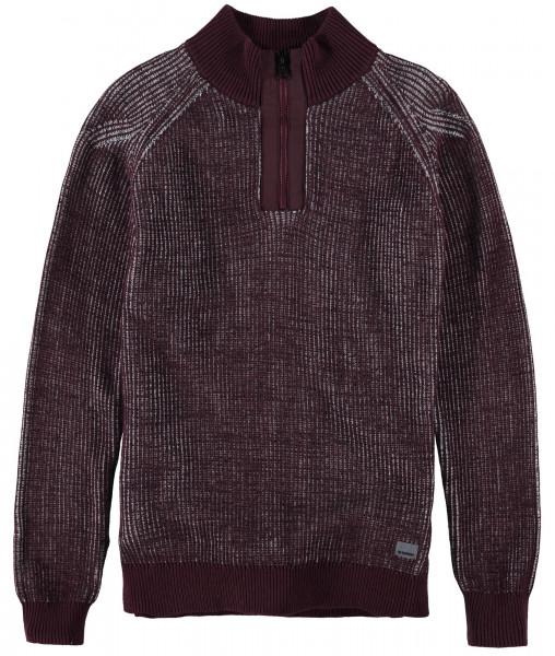 GARCIA Pullover mit Reißverschluss